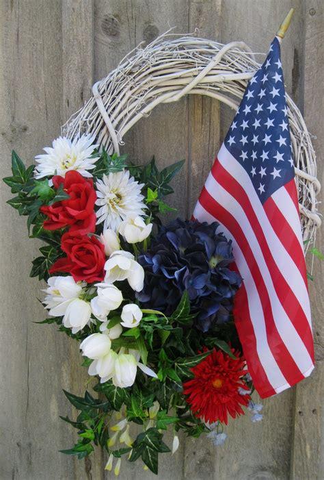 Patriotic Door Wreaths by Patriotic Wreath American Flag Wreath Patriotic Door