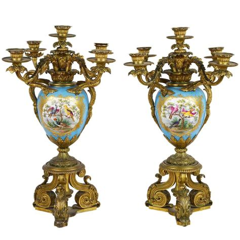 large candelabra large pair of antique sevres candelabra for sale at 1stdibs