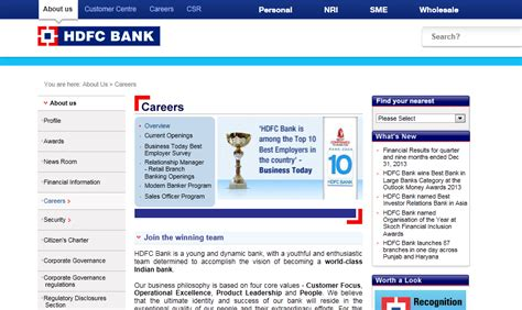 career hdfc bank hdfc bank opening utility and electricity