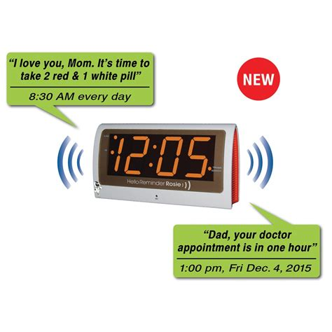 maxiaids reminder rosie talking alarm clock with personalized voice reminders