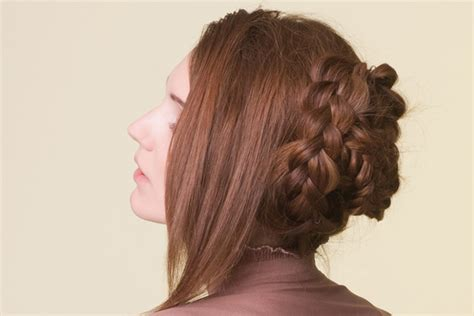 braided bangs hairstyles youtube braided hairstyles braided bun with long bangs back