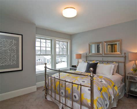 yellow  gray bedroom design ideas remodel