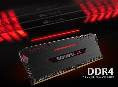 Ram Ddr4 Corsair Vengeance Led 1x8gb Corsair 16gb 2x8gb Vengeance Led K箟rm箟z箟 Ddr4 3200mhz Cl16 Dual Kit Ram Vatan Bilgisayar