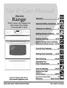 Frigidaire Cooktop Manual Frigidaire Use Amp Care Manual Electric Range Es400