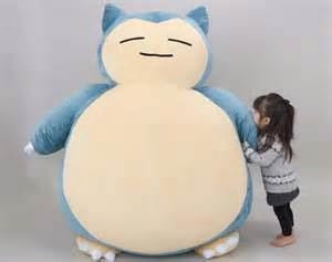 Kids Color Scheme giant snorlax pokemon cushion is the cutest bed for kids