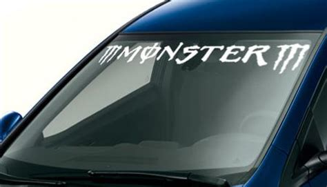 Monster Energy Windshield Sticker by Product M Monster M Custom Vinyl Sticker Windshield