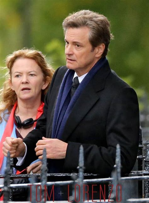 """Colin Firth on the Set of """"Bridget Jones's Baby""""   Tom ... Colin Firth Movies"""