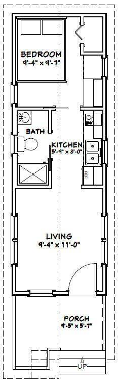 greater than 20 ideal free tiny home plans new get build 10x30 tiny house 10x30h1a 300 sq ft excellent