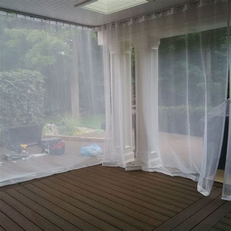 Mosquito Netting Curtains Outdoor Curtains Mosquito Drapes Porch Screens Contemporary Exterior Toronto By Rescom