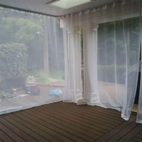 Outdoor curtains mosquito drapes porch screens contemporary exterior toronto by rescom