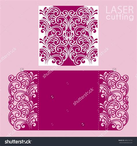 Paper Cut Card Templates by Laser Cut Wedding Invitation Card Template Vector Cut