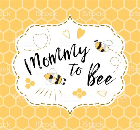 Baby Shower Invitation Template With Text Mommy To Bee Honey Cute Card Design For Mothers Day Baby Shower Text Template