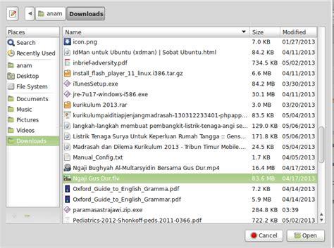 tutorial vlc linux 4 pilih file multimedia yang hendak dikonversi kemudian