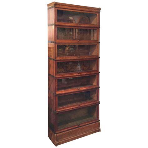 Globe Wernicke Bookcases Globe Wernicke Large Stacking Lawyer S Bookcase Of Oak At
