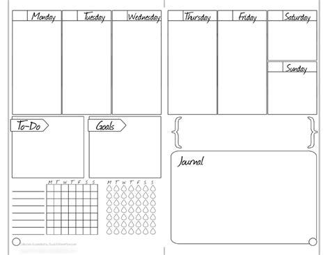 printable weekly journal bullet journal free printable starter kit bulletjournal