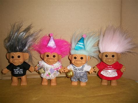 troll for sale troll russ berrie 4 collectible boy birthday silver