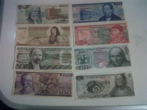 imagenes ocultas en billetes colecci 243 n 12 billetes mexicanos de 1 00 a 10 000 unc