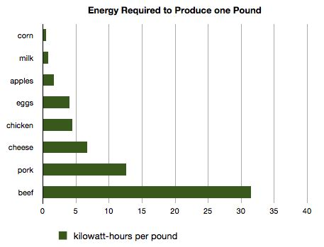 energy required to produce a pound of food : treehugger