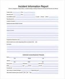 incident report form template incident report form template sle best free home