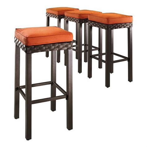 Sonoma Bar Stools Kohls by Sonoma Outdoors Astoria 4 Pk Woven Patio Bar Stools