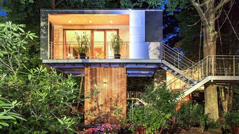 Treehouse Cabins by 301 Sq Ft Modern Treehouse Cabin