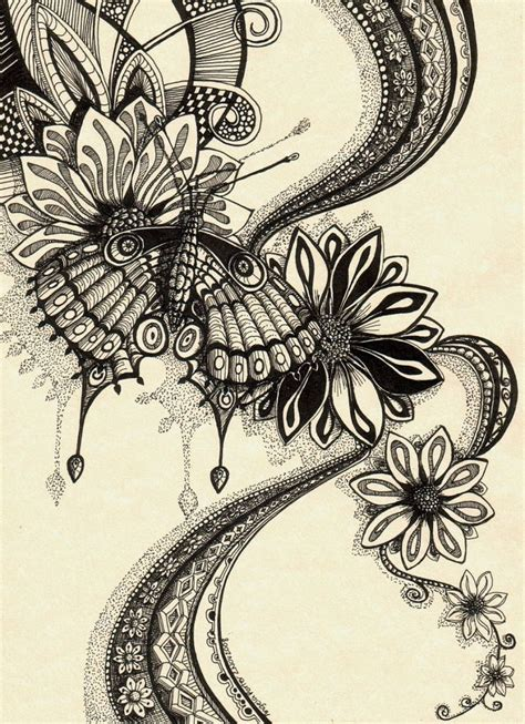 zentangle love pattern psychedelic butterfly 2 by artwyrd deviantart com on
