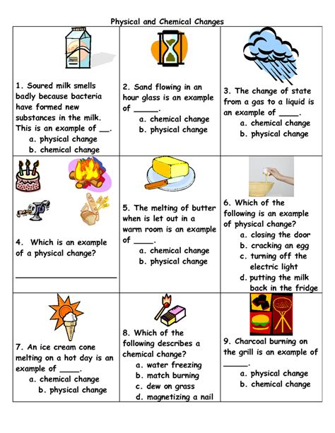 Chemical Vs Physical Change Worksheet by 28 Physical And Chemical Change Worksheet Chemical