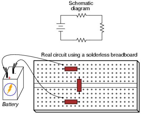 series resistors breadboard building simple resistor circuits series and parallel circuits electronics textbook