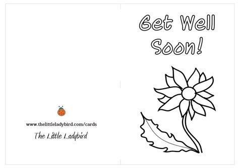 get well card coloring template get well soon coloring pages to and print for free