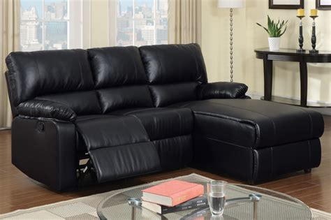 Small Sectional With Chaise And Recliner Small Black Leather Reclining Sectional Sofa Set Recliner