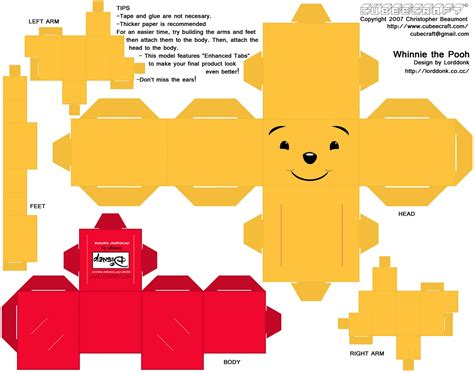 Paper Crafts Templates - disney paper crafts paper crafts