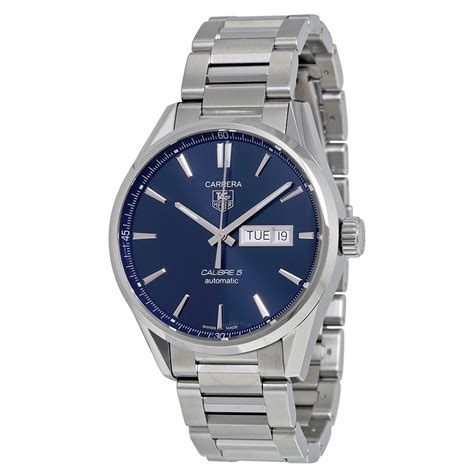 tag heuer watches tag heuer carrera blue dial stainless steel men s watch