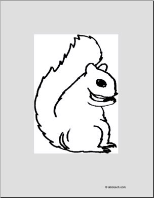 abcteach coloring pages coloring page squirrel abcteach