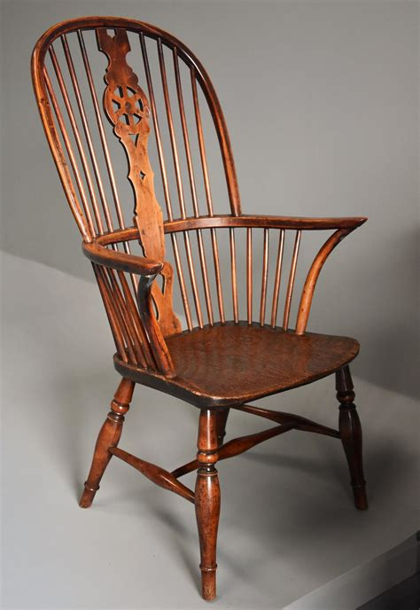high back windsor armchair 19thc fruitwood high back windsor armchair in chairs