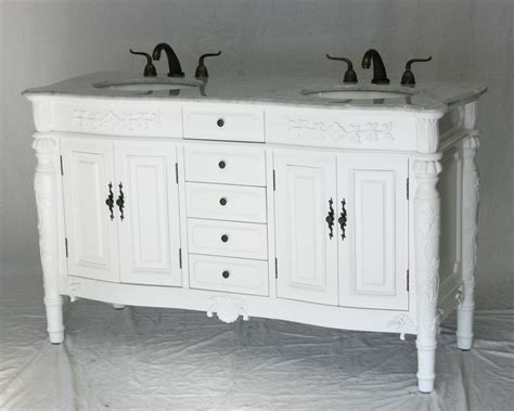 60 Inch Double Sink Bathroom Vanity Antique Traditional Traditional Style Bathroom Vanities