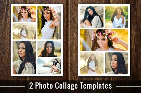 Photo Collage Template Photoshop Psd Flyer Templates Creative Market Collage Flyer Template