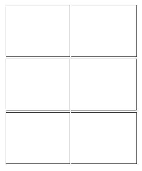Templates Box For Pages   six box template blank comic strip template ideas for