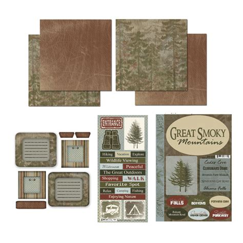 Park All That Smoky Kit scrapbook customs national parks scrapbook kit great
