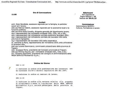 ordine giorno ordine giorno relativo all audizione presso la