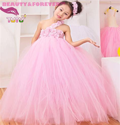 Gaun Pesta Pink Muda Dress Gown gadis buatan tangan gaun promotion shop for promotional