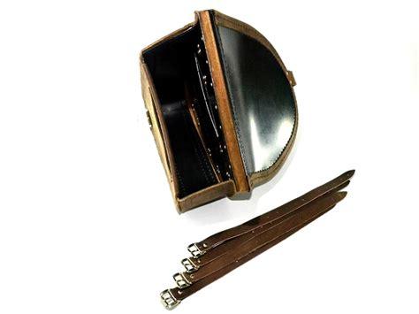 swing arm bags brown leather swingarm single pannier saddle bag harley