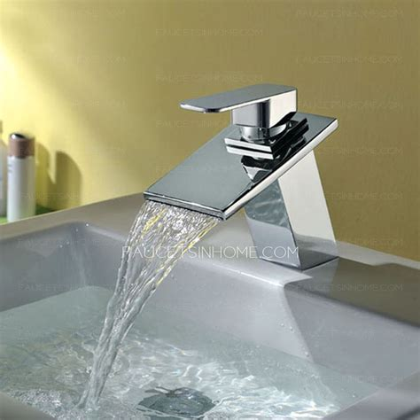 high end bathroom sinks high end waterfall sloped square shaped bathroom sink faucet