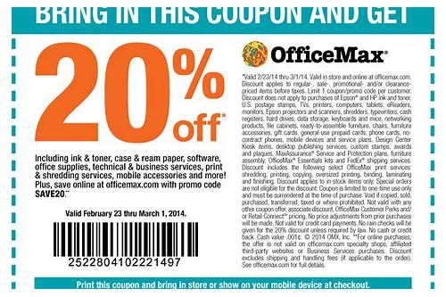 office max coupons jan 2018