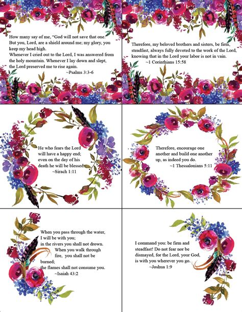 Printable Scripture Cards For free printable bible verse cards for when you need