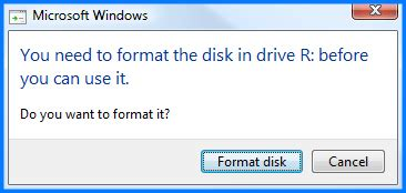 format hard disk before use raw file system