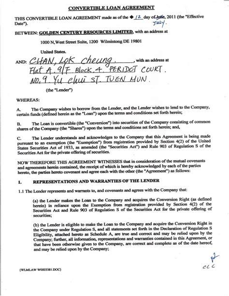 convertible loan agreement template convertible loan agreement