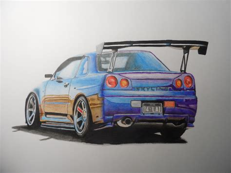 nissan skyline drawing by this is my drawing of a nissan skyline gtr r34 what do