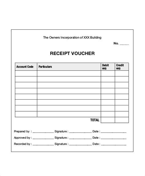 cheque voucher template 6 receipt voucher templates free psd vector ai eps