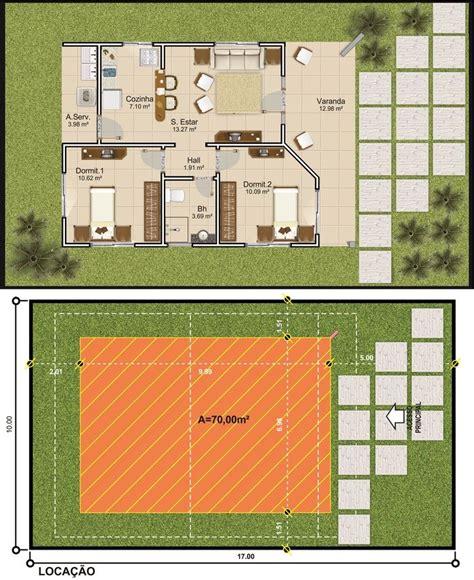 projetar casa projetar casas planta de casa t 233 rrea 2 quartos