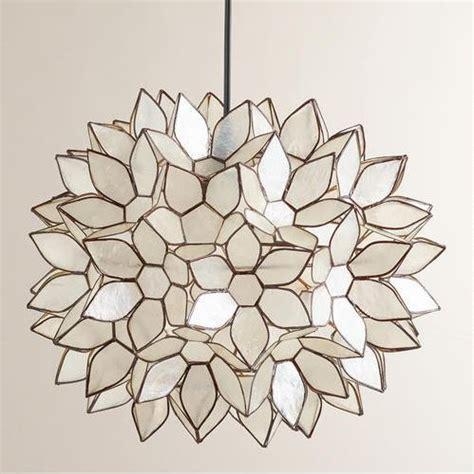 Capiz Lotus Flower Chandelier Diy Faux Capiz Shell Flower Pendant Light